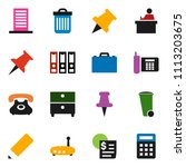 solid vector icon set   trash... | Shutterstock .eps vector #1113203675