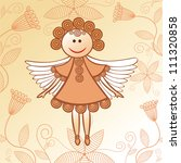 vector illustration of angel | Shutterstock .eps vector #111320858
