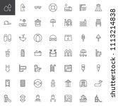water park outline icons set.... | Shutterstock .eps vector #1113214838