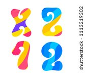 psychedelic font with colorful...   Shutterstock .eps vector #1113219302