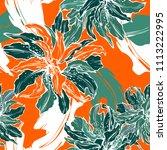 vector hand drawing flower... | Shutterstock .eps vector #1113222995
