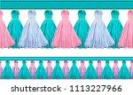 seamless border pattern ... | Shutterstock .eps vector #1113227966