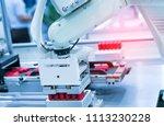 robotic machine tool in... | Shutterstock . vector #1113230228