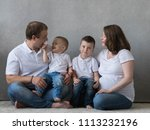 family portrait  father mother...   Shutterstock . vector #1113232196