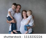 family portrait  father mother...   Shutterstock . vector #1113232226