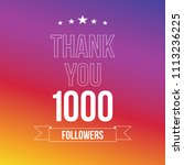 1000 followers vector... | Shutterstock .eps vector #1113236225