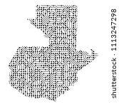 abstract schematic map of...   Shutterstock . vector #1113247298