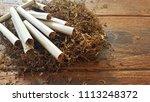 thai local cigarette hand...   Shutterstock . vector #1113248372