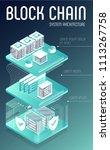blockchain server concept ... | Shutterstock .eps vector #1113267758