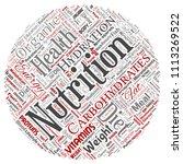 vector conceptual nutrition... | Shutterstock .eps vector #1113269522