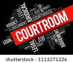 courtroom word cloud collage ... | Shutterstock .eps vector #1113271226