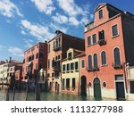 colorful building with clear... | Shutterstock . vector #1113277988