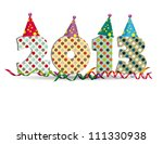 cute card on new year 2013 with ... | Shutterstock .eps vector #111330938