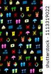 sea summer seamless pattern...   Shutterstock .eps vector #1113319022