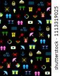 sea summer seamless pattern...   Shutterstock .eps vector #1113319025