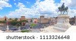 piazza venezia  view from... | Shutterstock . vector #1113326648