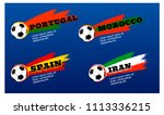 football tournament set of... | Shutterstock .eps vector #1113336215
