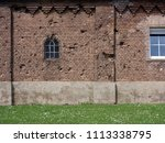 old basket on an ailing house | Shutterstock . vector #1113338795