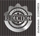 reduction silvery shiny badge | Shutterstock .eps vector #1113348026