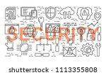 vector line style seamless... | Shutterstock .eps vector #1113355808