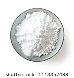 bowl of powder sugar isolated... | Shutterstock . vector #1113357488