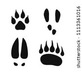Wild Animals Footprints Set ...
