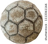 Small photo of Very old ball for football or soccer
