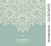 save the date invitation card... | Shutterstock .eps vector #1113376025
