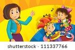 Cartoon Kids With Instruments ...
