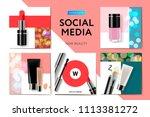 social media templates new... | Shutterstock .eps vector #1113381272