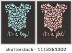 set of baby shower invitation... | Shutterstock .eps vector #1113381302