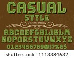 classic vintage decorative font ... | Shutterstock .eps vector #1113384632
