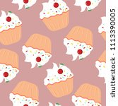vector seamless pattern with... | Shutterstock .eps vector #1113390005