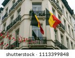 the belgian flag on the... | Shutterstock . vector #1113399848
