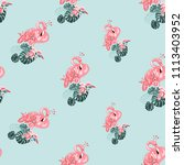 Watercolor Flamingo Pattern....
