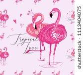 Pink Flamingo Birds Pattern....