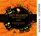 halloween vector card  or... | Shutterstock .eps vector #111340466