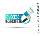 success stories. badge with... | Shutterstock .eps vector #1113426422