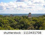 panoramic view over tikal ...   Shutterstock . vector #1113431708