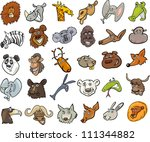 aardvark,animals,ape,bear,beaver,buffalo,camel,caricature,cartoon,characters,cheerful,clip art,comics,creature,crocodile