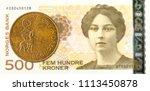 50 norwegian oere coin against... | Shutterstock . vector #1113450878