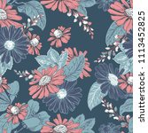 seamless pattern with hand... | Shutterstock .eps vector #1113452825