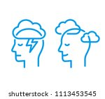 Head Profile With Storm Cloud...