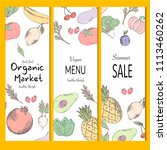healthy food banner collection. ... | Shutterstock .eps vector #1113460262