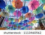umbrella street decoration   Shutterstock . vector #1113460562