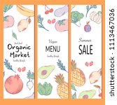 healthy food banner collection. ... | Shutterstock .eps vector #1113467036