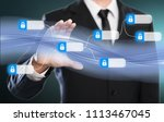 businessman using digital... | Shutterstock . vector #1113467045