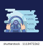 driver safely campaign label | Shutterstock .eps vector #1113472262