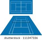 tennis court | Shutterstock .eps vector #111347336