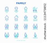 family thin line icons set ...   Shutterstock .eps vector #1113473852